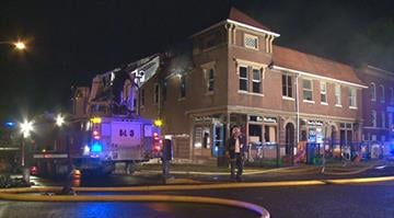 Police say there were at least three separate fires throughout the building in the 3550 block of California. They say there was a strong accelerant odor in the building. By Stephanie Baumer