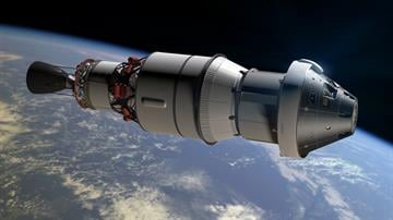 An Orion spacecraft is shown in this rendering from NASA. By NASA