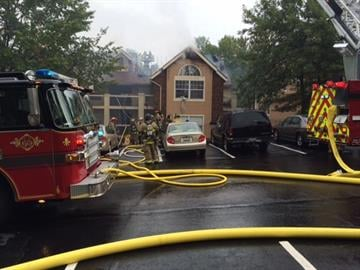Fire crews were called to the 3700 block of Huntington Valley Drive around 8:30 a.m. for the blaze. By Stephanie Baumer