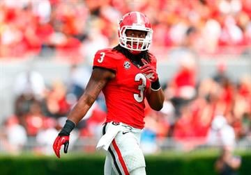 ATHENS, GA - SEPTEMBER 27:  Todd Gurley #3 of the Georgia Bulldogs walks off the field between downs against the Tennessee Volunteers at Sanford Stadium on September 27, 2014 in Athens, Georgia.  (Photo by Kevin C. Cox/Getty Images) By Kevin C. Cox