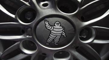 A picture shows the Michelin logo presented at the Paris Auto Show in Paris on October 3, 2014. AFP PHOTO/JOEL SAGET (Photo credit should read JOEL SAGET/AFP/Getty Images) By JOEL SAGET / Staff