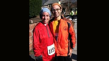 [3/5] Sommer took up running, and it became a family affair. He and his wife, Rochie, ran a Turkey Trot race on Thanksgiving. By Courtesy Pesach Sommer