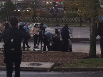 Protester arrested outside a Ferguson Walmart By Ruella Rouf