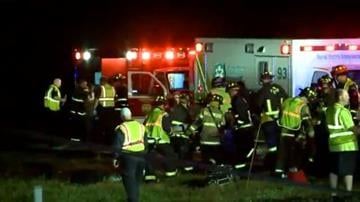 An accident between a passenger bus and a car on I-65 in Indiana closed the highway for a period of time on Tuesday morning, October 14, 2014. According to CNN affiliate WXIN, 54 people were on board the bus. By n/a