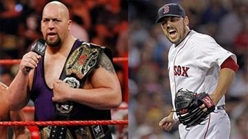 "John Lackey starts for the Cardinals Tuesday afternoon in San Francisco. I've always thought Lackey looked like WWE wrestler ""The Big Show."" By Daniel Fredman"
