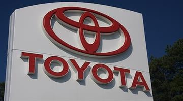 A Toyota sign located at a dealership in Atlanta, Georgia. By Stephanie Baumer