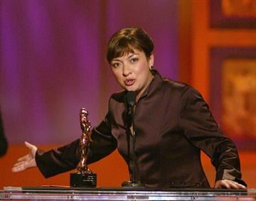 """Elizabeth Pena at """"The 2002 ALMA Awards"""" at the Shrine Auditorium in Los Angeles, Ca. Saturday, May 18, 2002. Photo by Kevin Winter/ABC/ImageDirect. By Kevin Winter"""