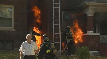 A home located in the 3900 block of De Tonty caught fire Thursday morning. By Stephanie Baumer