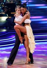 "In this publicity image released by ABC, Nicole Scherzinger, right and Derek Hough perform on the celebrity dance competition series ""Dancing With the Stars,"" Monday, April 12, 2010 in Los Angeles. (AP Photo/ABC, Adam Larkey) By Adam Larkey"