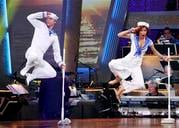 "In this publicity image released by ABC, Nicole Scherzinger, right, and her partner Derek Hough perform on ""Dancing with the Stars,"" Monday, April 5, 2010 in Los Angeles. (AP Photo/ABC, Adam Larkey) By Adam Larkey"