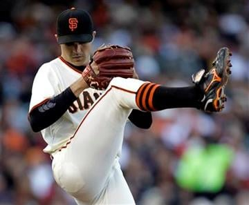 San Francisco Giants starting pitcher Barry Zito throws to the St. Louis Cardinals during the third inning of a baseball game in San Francisco,  Saturday, April 24, 2010. (AP Photo/Marcio Jose Sanchez) By Marcio Jose Sanchez