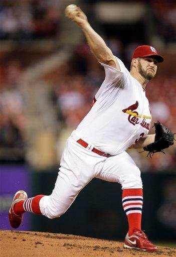 St. Louis Cardinals starting pitcher Brad Penny throws during the second inning of a baseball game against the Cincinnati Reds, Friday, April 30, 2010, in St. Louis. (AP Photo/Jeff Roberson) By Jeff Roberson