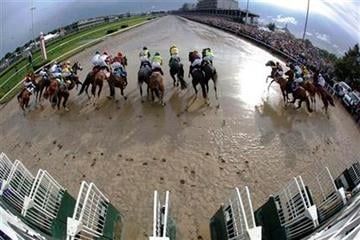 Horses leave the starting gate during the 136th Kentucky Derby horse race at Churchill Downs Saturday, May 1, 2010, in Louisville, Ky. (AP Photo/Rob Carr) By Rob Carr