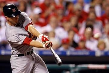 St. Louis Cardinals' David Freese hits a three-run double off Philadelphia Phillies' Nelson Figueroa in the seventh inning of a baseball game, Monday, May 3, 2010, in Philadelphia. St. Louis won 6-3. (AP Photo/Matt Slocum) By Matt Slocum