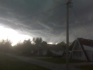 Todd Picklesimer took this photo of the storm moving across Bunker Hill, Illinois on May 3, 2010. By Bryce Moore
