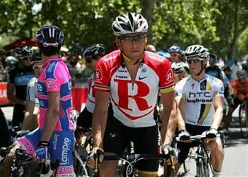 American Lance Armstrong, riding for Team Radio Shack, during the final stage of the Tour Down Under cycling event at Adelaide, Australia, Sunday, Jan. 23, 2011. (AP Photo/James Knowler) By James Knowler
