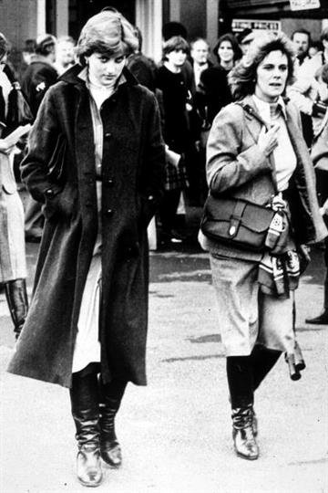 Lady Diana Spencer and Camilla Parker-Bowles at Ludlow Races where Prince Charles is competing, 1980. (Photo by Express Newspapers/Archive Photos) By Express Newspapers
