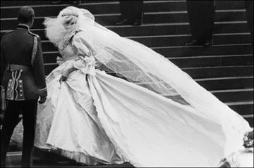 Lady Diana, Princess of Wales and Charles, Prince of Wales are seen during their wedding at St Paul Cathedral in London 29 July 1981. (Photo credit should read /AFP/Getty Images) By AFP