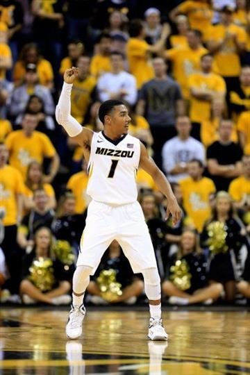 COLUMBIA, MO - DECEMBER 17:  Phil Pressey #1 of the Missouri Tigers gestures during the game against the South Carolina State Bulldogs at Mizzou Arena on December 17, 2012 in Columbia, Missouri.  (Photo by Jamie Squire/Getty Images) By Jamie Squire