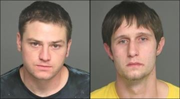 James Bright, 25, and Jeffrey Medcalf, 26, are in custody after they allegedly stole several items, including NCAA and NFL championship rings, from the Kirkwood home of the St. Louis Rams tight end coach. By Brendan Marks