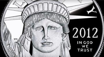 American Eagle platinum proof coin / U.S. Mint By Dan Mueller