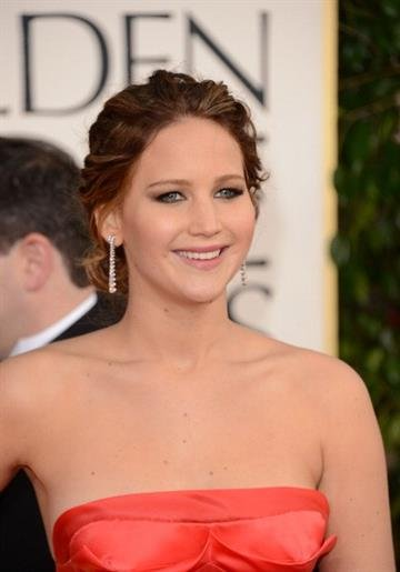 BEVERLY HILLS, CA - JANUARY 13:  Actress Jennifer Lawrence arrives at the 70th Annual Golden Globe Awards held at The Beverly Hilton Hotel on January 13, 2013 in Beverly Hills, California.  (Photo by Jason Merritt/Getty Images) By Jason Merritt