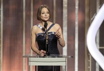 The actress thanked her former partner of 20 years at the Golden Globes and suggested that actors who publicly come out should protect their privacy. By Handout