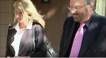 Stacie Halas and her attorney in an undated file photo. / CBS Los Angeles By Belo Content KMOV