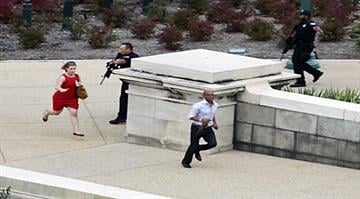 From shutdown to lockdown to shootout.  With senators puzzling over the government shutdown inside, a woman driving a black Infiniti with a young child leads police on a chase that ends at the Capitol, where she is shot and killed. By KMOV.com Staff