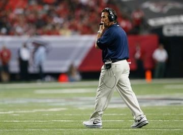 ATLANTA, GA - SEPTEMBER 15:  Head coach Jeff Fisher of the St. Louis Rams reacts during a timeout against the St. Louis Rams at Georgia Dome on September 15, 2013 in Atlanta, Georgia.  (Photo by Kevin C. Cox/Getty Images) By Kevin C. Cox