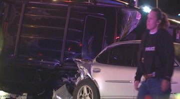 More than 10 people were injured after a police chase led to a wreck involving five vehicles in north St. Louis Sunday night. By Brendan Marks