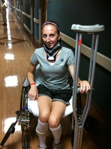 Emily Perona, one of the most seriously injured in the deadly bus crash on I-44. The bus was carrying students from St. James High School. The accident happened Thursday, August 5, 2010.