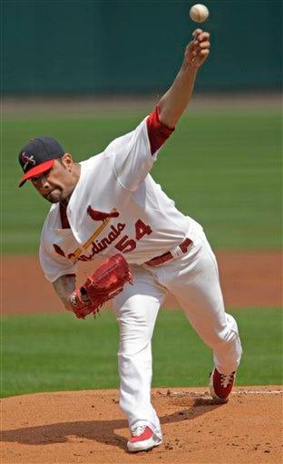 St. Louis Cardinals starting pitcher Jaime Garcia (54) delivers in the first inning of a baseball game against the San Francisco Giants, Sunday, Aug. 22, 2010, in St. Louis. (AP Photo/Tom Gannam) By Tom Gannam