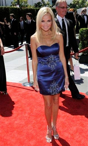 Kristin Chenoweth arrives at the Creative Arts Emmy Awards on Saturday, Aug. 21, 2010 in Los Angeles. (AP Photo/Chris Pizzello) By Chris Pizzello
