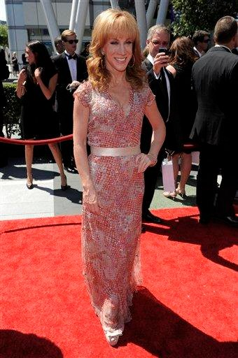 Kathy Griffin arrives at the Creative Arts Emmy Awards on Saturday, Aug. 21, 2010 in Los Angeles. (AP Photo/Chris Pizzello) By Chris Pizzello
