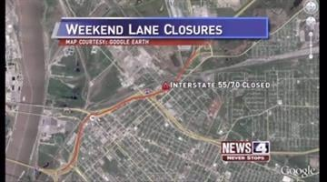 IDOT closed a section of I-55/70 in both directions to demolish the Exchange Ave. Overpass. The interstate will close just west of Illinois Route 203 to the I-55/70/64 interchange. Drivers can taken I-255 or I-64. By KMOV Web Producer