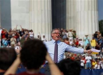 Glenn Beck speaks at his  'Restoring Honor' rally in front of the Lincoln Memorial in Washington, Saturday, Aug. 28, 2010.(AP Photo/Alex Brandon) By Alex Brandon