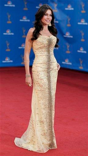 Sofia Vergara arrives at the 62nd Primetime Emmy Awards Sunday, Aug. 29, 2010, in Los Angeles. (AP Photo/Chris Pizzello) By Chris Pizzello