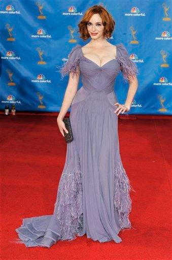 Christina Hendricks arrives at the 62nd Primetime Emmy Awards Sunday, Aug. 29, 2010, in Los Angeles. (AP Photo/Chris Pizzello) By Chris Pizzello
