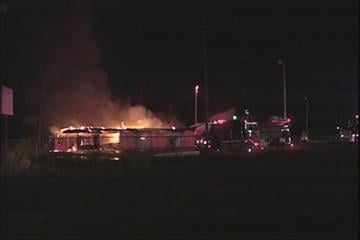 About a dozen fire trucks were called to the scene of a large fire in the Metro-East. It started around 4:00 a.m. on Tuesday at what used to be Haley's Auto Shop in the 2600 block of Camp Jackson Road in Cahokia, Illinois. By Afton Spriggs