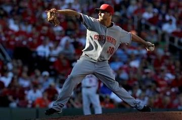 Cincinnati Reds starting pitcher Travis Wood throws during the sixth inning of a baseball game against the St. Louis Cardinals Saturday, Sept. 4, 2010, in St. Louis. (AP Photo/Jeff Roberson) By Jeff Roberson