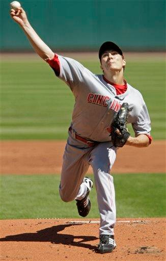 Cincinnati Reds starting pitcher Homer Bailey pitches in the first inning of a baseball game against the St. Louis Cardinals, Sunday, Sept. 5, 2010 in St. Louis.(AP Photo/Tom Gannam) By Tom Gannam