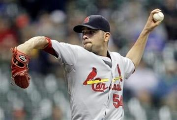 St. Louis Cardinals starting pitcher Jaime Garcia throws during the first inning of a baseball game against the Milwaukee Brewers on Wednesday, Sept. 8, 2010, in Milwaukee. (AP Photo/Morry Gash) By Morry Gash