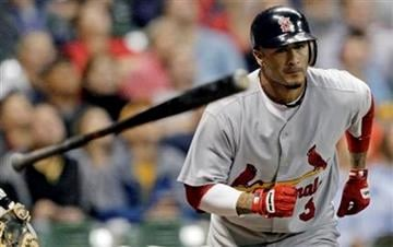 St. Louis Cardinals' Felipe Lopez throws his bat as he pops out during the fifth inning of a baseball game against the Milwaukee Brewers on Wednesday, Sept. 8, 2010, in Milwaukee. (AP Photo/Morry Gash) By Morry Gash