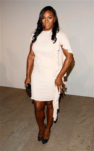 """Tennis player Serena Williams attends """"Fashion's Night Out: The Show"""" at Lincoln Center in New York on Tuesday, Sept. 7, 2010. (AP Photo/Peter Kramer) By Peter Kramer"""