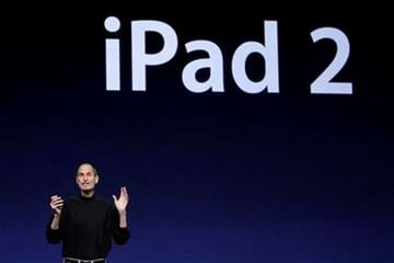 Apple Inc. Chairman and CEO Steve Jobs speaks about the iPad 2 at an Apple event at the Yerba Buena Center for the Arts Theater in San Francisco, Wednesday, March 2, 2011. (AP Photo/Jeff Chiu) By Jeff Chiu