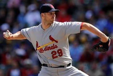 St. Louis Cardinals starter Chris Carpenter delivers a pitch against the Chicago Cubs in the first inning during a baseball game in Chicago, Saturday, Sept. 25, 2010. (AP Photo/Paul Beaty) By Paul Beaty