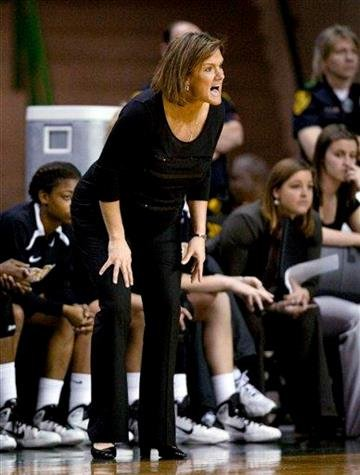 Missouri coach Robin Pingeton calls to her team during the first half of an NCAA college basketball game against Baylor on Wednesday, March 2, 2011, in Waco, Texas. (AP Photo/Tony Gutierrez) By Tony Gutierrez