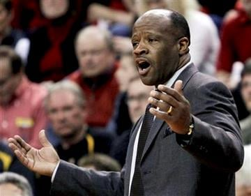 Missouri coach Mike Anderson disagrees with a call against his team in the second half of an NCAA college basketball game against Nebraska, in Omaha, Neb., Tuesday, March 1, 2011. Nebraska defeated Missouri 69-58. (AP Photo/Nati Harnik) By Nati Harnik