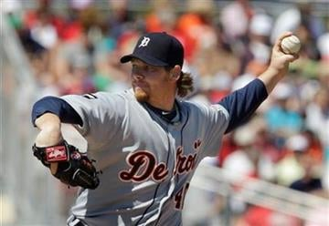 Detroit Tigers pitcher Phil Coke throws during a spring training baseball game against the St. Louis Cardinals, Friday, March 11, 2011, in Jupiter, Fla. Coke shut out the Cardinals for four innings.(AP Photo/Carlos Osorio) By Carlos Osorio